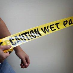 Caution Wet Paint Tape