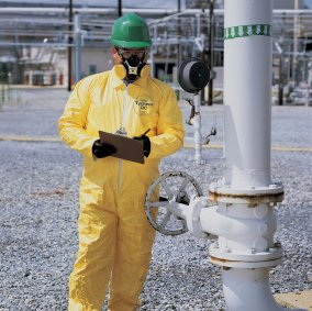 Yellow DuPont™ TyChem® QC PE-Coated Coveralls Image 1