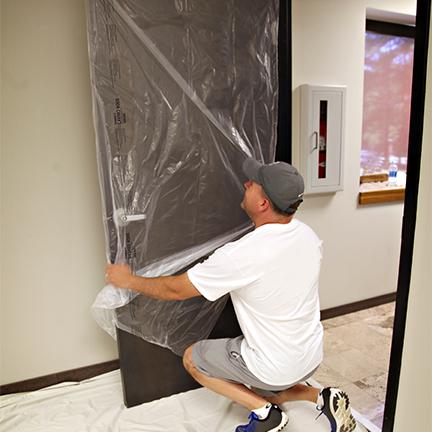 temporary door protection
