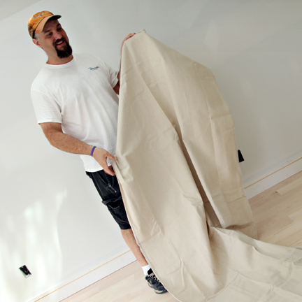 clean a drop cloth