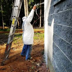 Tyvek Button Up Jacket Spraying