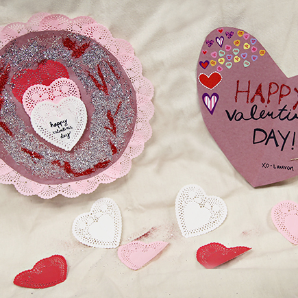 Red Rosin Paper Valentine's Day Cards