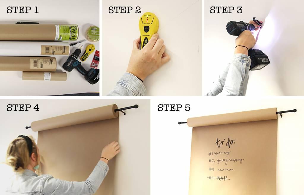 paper mount steps