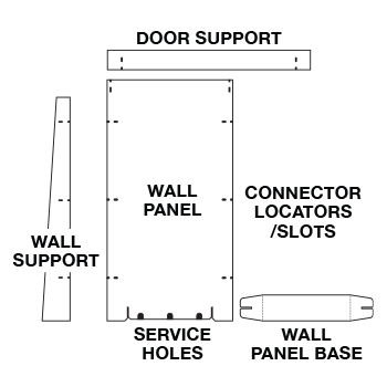 SpeedyRoom™ Wall System Kit Image 2